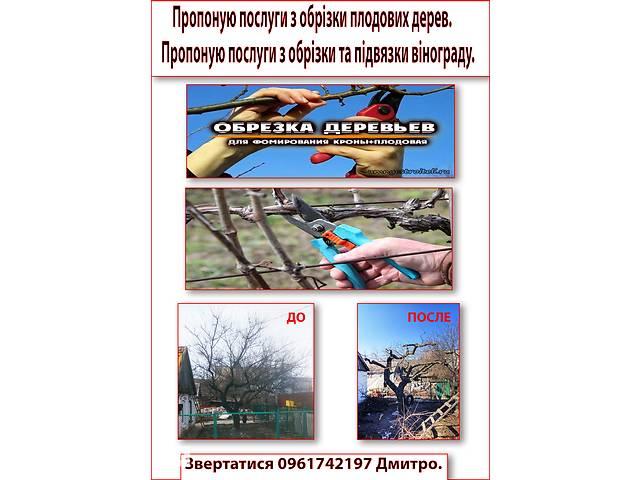 Услуги по обрезке плодовых деревьев и винограда.- объявление о продаже  в Мелітополі