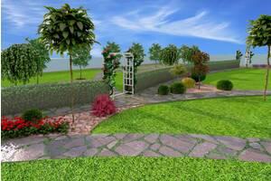 Виготовлення проектів,стелення газонів,бруківки,догляд за садом.Автополив.Проектування та монтаж дитячих та спорт майдан