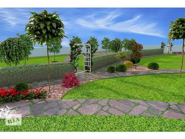 Виготовлення проектів,стелення газонів,бруківки,догляд за садом.Автополив.Проектування та монтаж дитячих та спорт майдан- объявление о продаже   в Украине