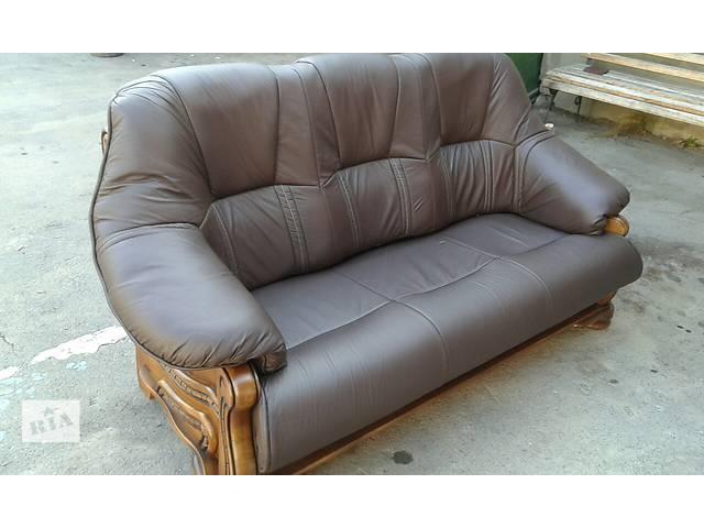 Кожаная мебель, раскладной диван + 2 кресла на дубе Alfa I- объявление о продаже  в Дрогобыче