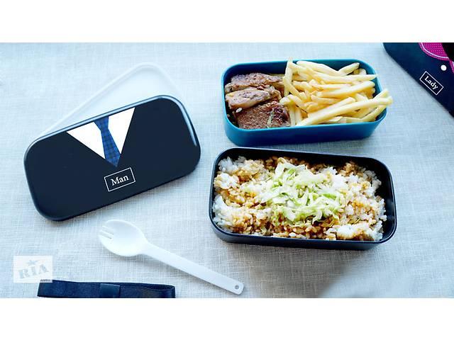 купить бу Ланчбокс Lady&Man. Качественный детский lunch box 1л. Elle воротничек. Подарок для класса на 1 сентя в Одессе