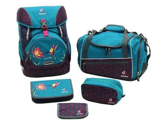 бу Рюкзак Deuter OneTwoSet - Sneaker Bag  с набором школьных принадлежностей (Синий с птицей petrol bird) в Сумах