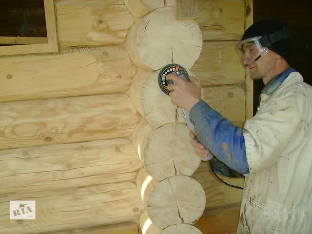 купить бу Шлифовка деревянного дома из сруба  Украине,Одесса ,Киев.  в Украине