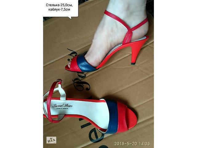 Босоніжки червоно-сині 6 запасних набойок на каблук.Польща. - Жіноче ... ba631f1becfc7