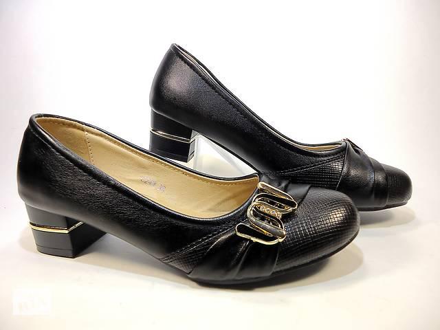 4399102681b9 Туфли женские черные на устойчивом каблуке. Размер 36-41 - Женская ...
