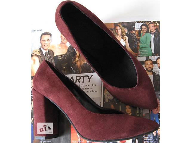 купить бу Venty жіночі стильні туфлі каблук 10см марсала замш босоніжки  взуття черевики краса стиль осінь 1acac735bb45a