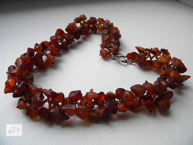 продам Шикарное ожерелье, бусы из янтаря бу в Ровно