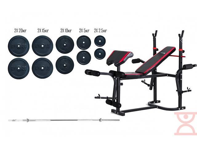Скамья для жима Hop-Sport 1020+ Штанга 115 кг- объявление о продаже  в Дубно