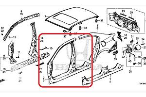 Новые Четверти автомобиля Honda Accord