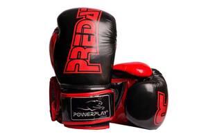 Боксерские перчатки PowerPlay 3017 Черные карбон 14 унций SKL24-144022