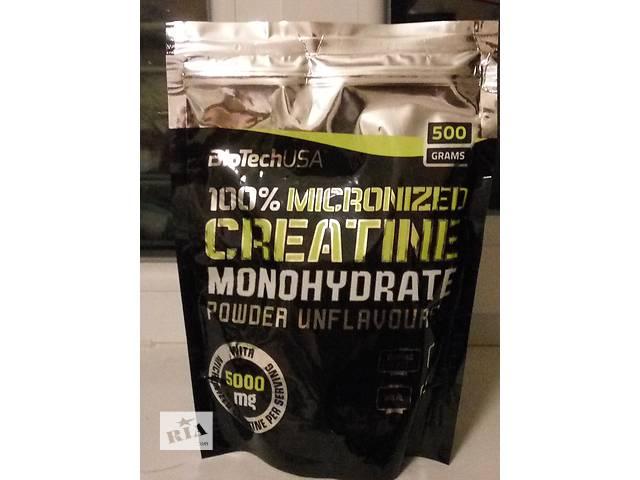 продам Креатин моногидрат BioTech Creatine Monohydrate 100% (500г) бу в Мариуполе (Донецкой обл.)