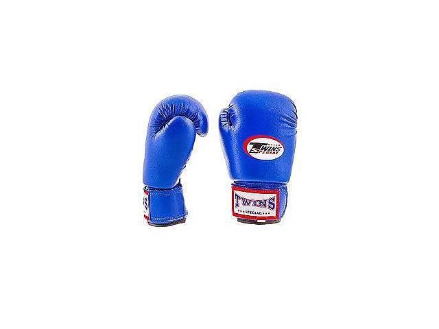 купить бу Перчатки боксерские Twins PVC красные TW-R 4, синий в Одессе