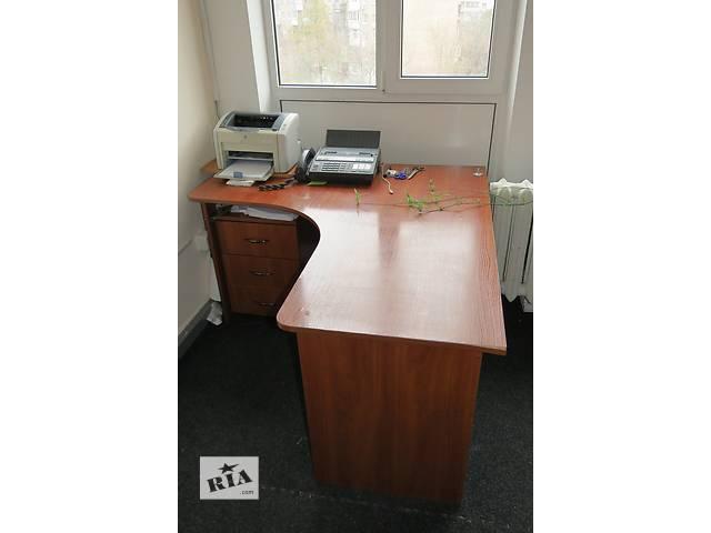 стол офисный угловой с мобильной тумбой- объявление о продаже  в Киеве