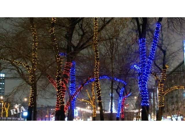 продам Светодиодное освещение деревьев,украшение деревьев гирляндой,монтаж гирлянд бу  в Украине