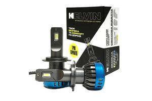 Светодиодные Led Лампы H7 KELVIN FSeries - 8000Lm - 6000K для головного света - Год гарантии
