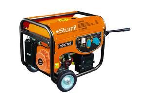 Генератор бензиновый, электрогенератор (7000 Вт, ручная/электро) Sturm PG8770E