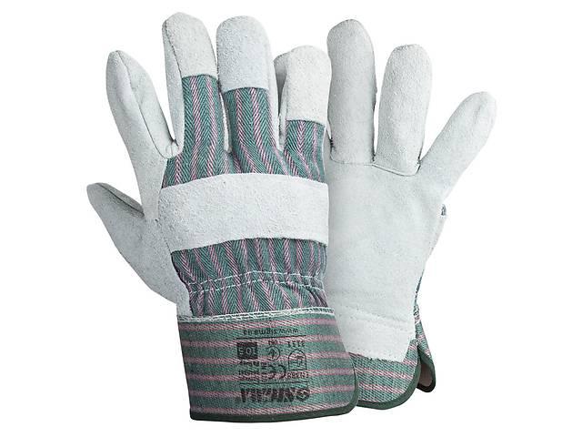 купить бу Перчатки комбинированные замшевые р10,5, класс АВ (цельная ладонь) Sigma (9448341) в Львове