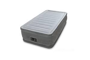 Надувная кровать Intex 64412, 99*191*46 см, встроенный электронасос, односпальная