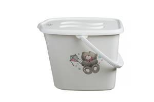 Ведерко для подгузников и воды Maltex Bear 2145  white