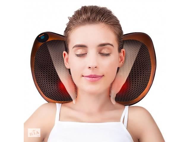 купить бу Массажная подушка Massage Pillow с инфракрасным подогревом для спины и шеи, ног R178608 в Одессе