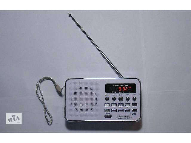 бу Цифровий радіоприймач T-205 MP3 плеєр FM-приймач USB microSD в Миколаєві