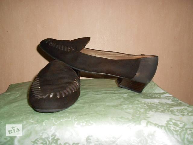Туфли натур. кожа+замша 41 размер, Австрия, очень удобные. Стелька 26 см- объявление о продаже  в Николаеве