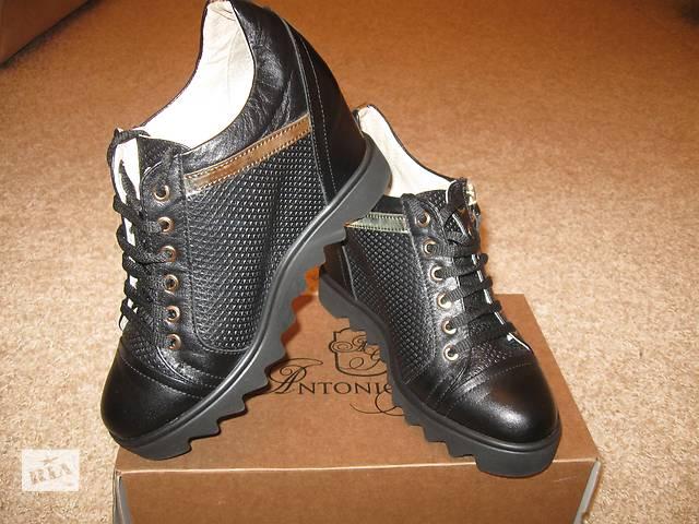 купить бу Удобные кожаные ботиночки (сникерсы) в Одессе