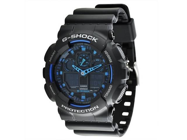 Україна.Чоловічий наручний годинник Casio G-Shock (Касіо Джі Шок) - чорно- сині a113fe0632191