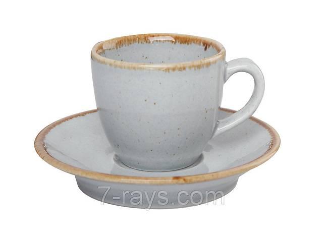 купить бу Чашка 80 мл. фарфоровая, темно-серая espresso Seasons Dark Gray, Porland (блюдце 213-122112.DG) в Дубно