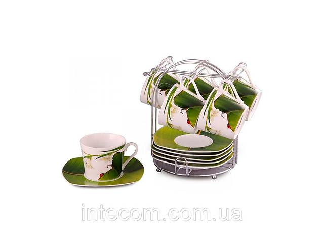 """бу Lefard Чайный набор """"Конвалия"""" 12пр.(чашка 220мл) на метал.подставке 591-017 в Запорожье"""