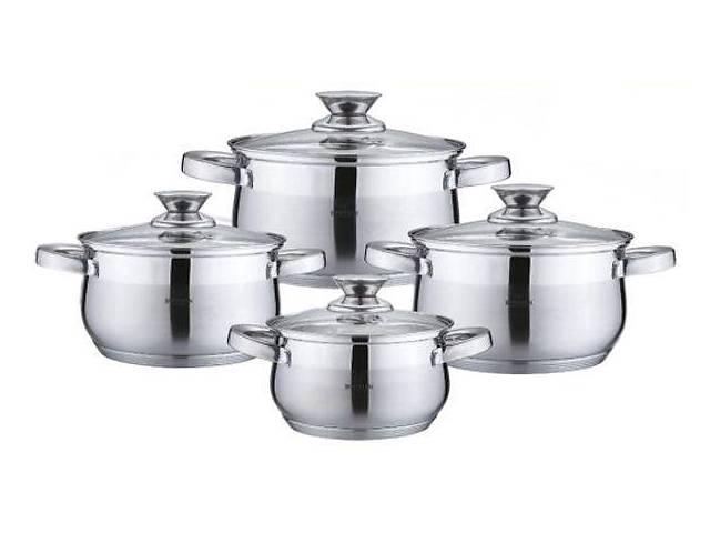 продам Набор кухонной посуды из нержавеющей стали 8 предметов Bohmann BH-0716 бу в Києві