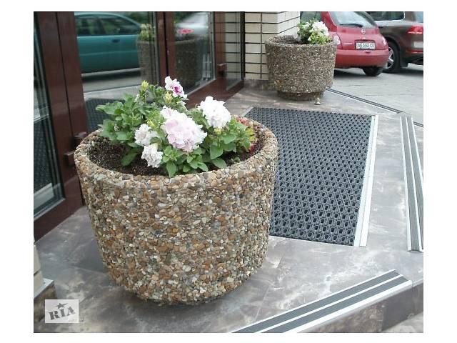бу Вазон вуличний бетонний, цветочник декоративний, квітник з бетону садовий, клумба для квітів саду в Харкові