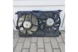 Вентилятор диффузор 13167335. Opel Vectra C 1.9cdti, Signum, Saab 9-3. в сборе. б.у. в хорошем сост.