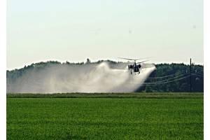 Внесення фунгіцидів вертольотами - авіахімроботи гвинтокрилами