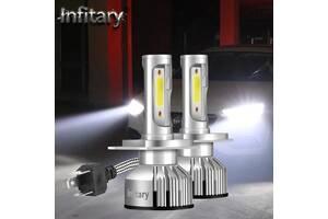 Авто LED лампы Н7 Н11 H4 на светодиодах ZES.Без радиопомех