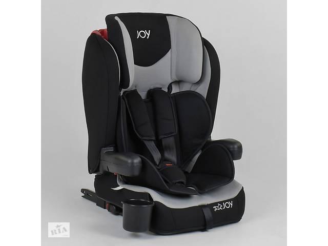 купить бу Автокресло универсальное для ребенка JOY 38148 Черный с серым, система ISOFIX, группа 1/2/3, от 9-36 кг в Львове