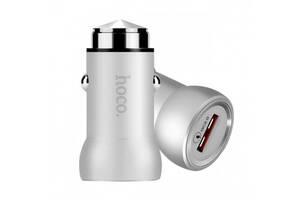 Автомобильное зарядное устройство адаптер Hoco Z4 1 USB Port 2A QC2.0 ORIGINAL Silver