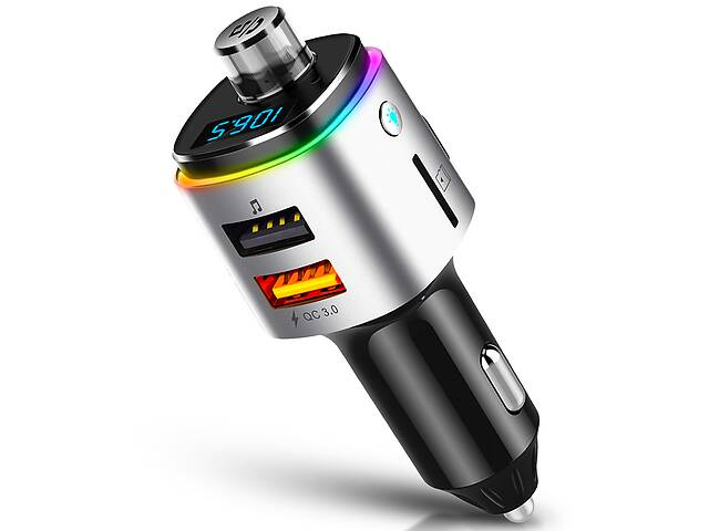 бу Автомобильный ФМ трансмиттер Onever A42 Car MP3 Player Bluetooth v4.2 QC 3.0 в Харкові