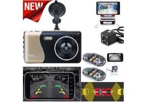 Автовидеорегистратор 1080P, 4,0 дисплей, 2 камеры, 170 град, парковка + КАРТА 16 Гб 10 класс