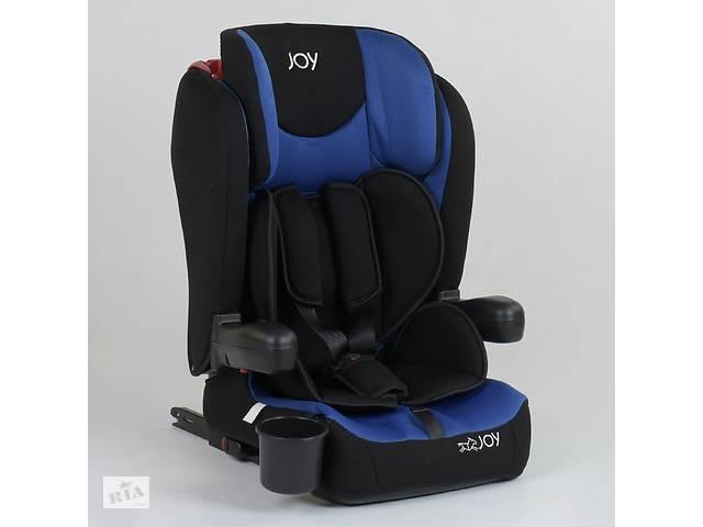 Детское универсальное автокресло JOY 43098 Черный с синим, система ISOFIX, группа 1/2/3, от 9-36 кг- объявление о продаже  в Львове