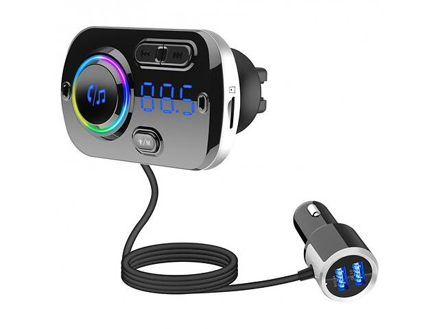 купить бу ФМ-трансмітер-модулятор Onever A49 Car MP3 Player Bluetooth v5.0 Quick Charge 3.0 в Одессе