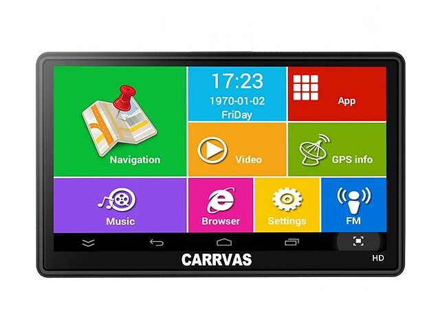 продам GPS-навигатор Carrvas 7 Truck Black (hub_kFii29027) бу в Києві
