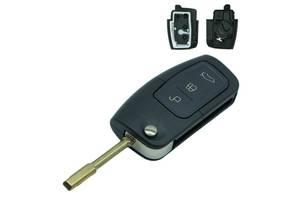 Ключ выкидной Ford Focus, Fiesta, C-Max, S-Max, Mondeo, Galaxy на 3 кнопки