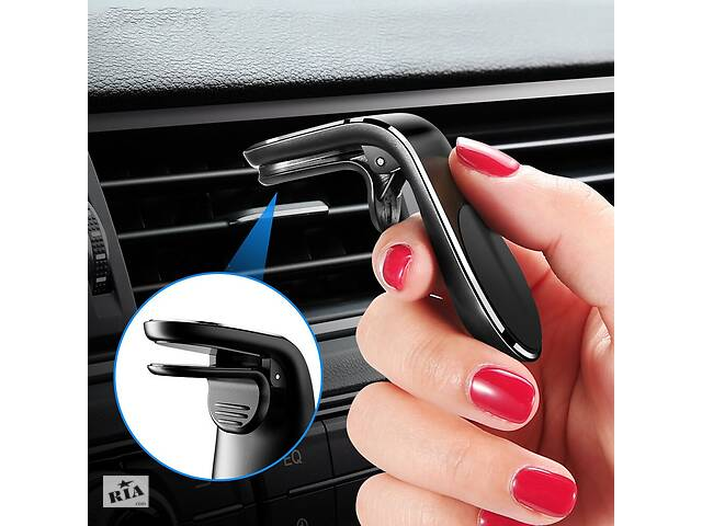 бу Магнитный Чёрный держатель для телефона в авто на решетку воздуховода в Борисполе