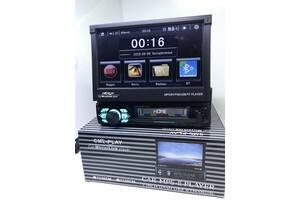 """магнитола с выдвижным экраном 7"""" Bluetooth 7030 USB Камера заднего вида"""