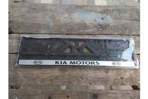Рамка номера автомобильная пластиковая черная KIA