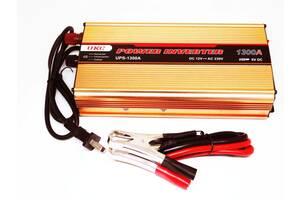 Инвертор UKC 1300W с Зарядкой 12V220V Преобразователь