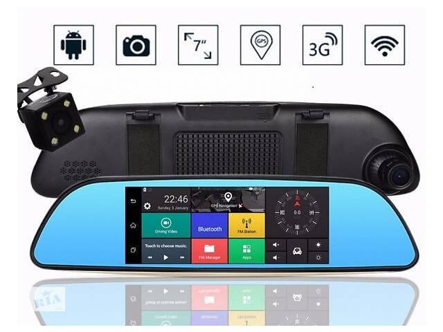 """Зеркало видеорегистратор K35 ANDROID 6.1 3G (LCD 7"""", GPS)- объявление о продаже  в Одессе"""