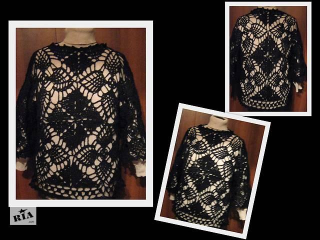продам вязаный ажурный свитер бу в Киеве