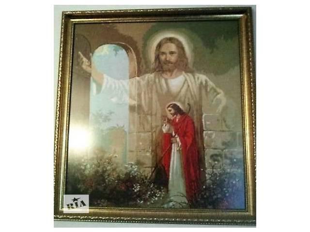 """бу Вышитая крестиком картина """"Иисус стучится в твою дверь"""" в Бучаче"""
